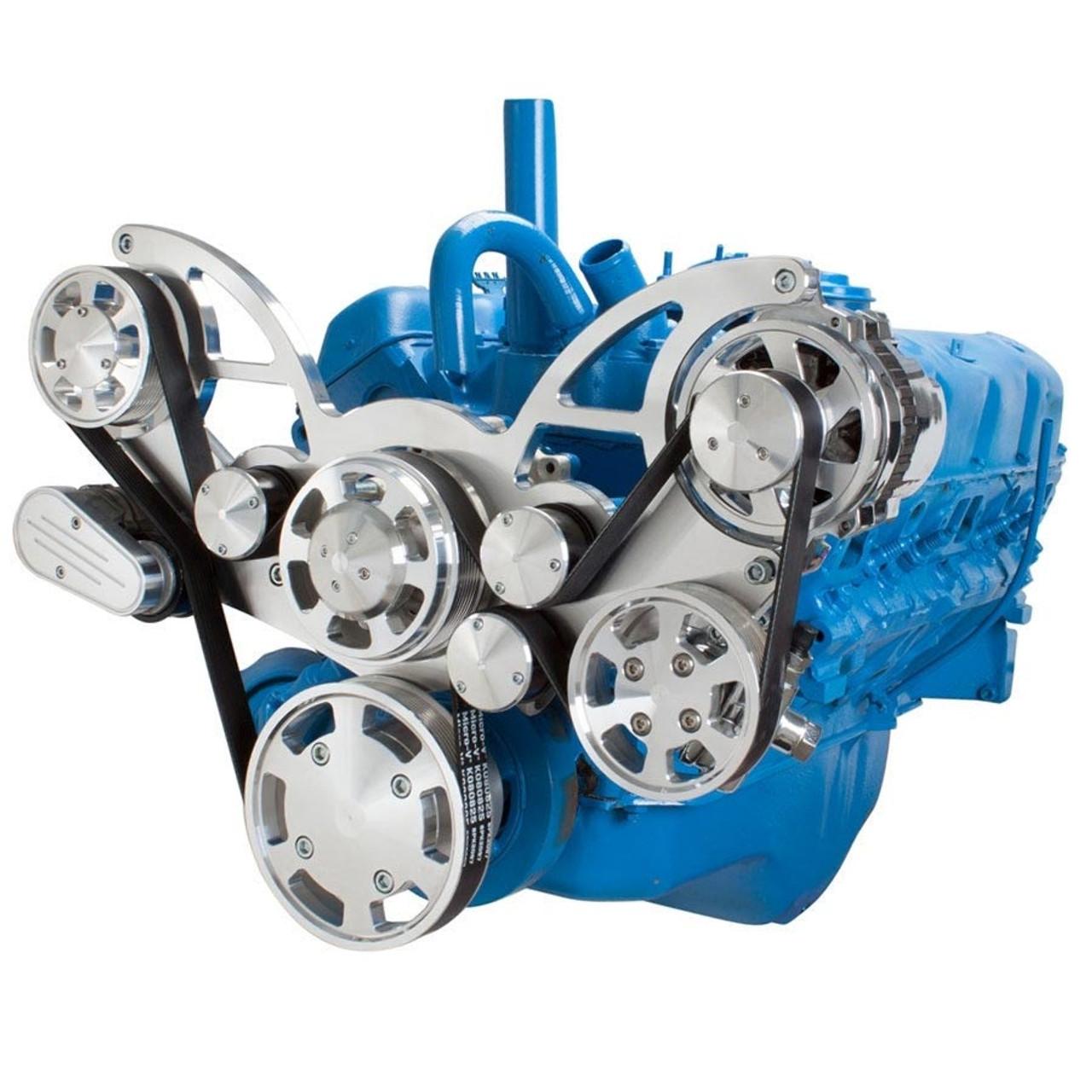 serpentine conversion kit for amc jeep with power steering alternator rh cvfracing com
