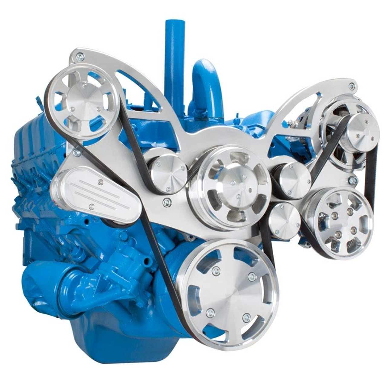 Serpentine Conversion Kit For Amc Jeep With Power Steering Alternator Wiring System 304 360 401