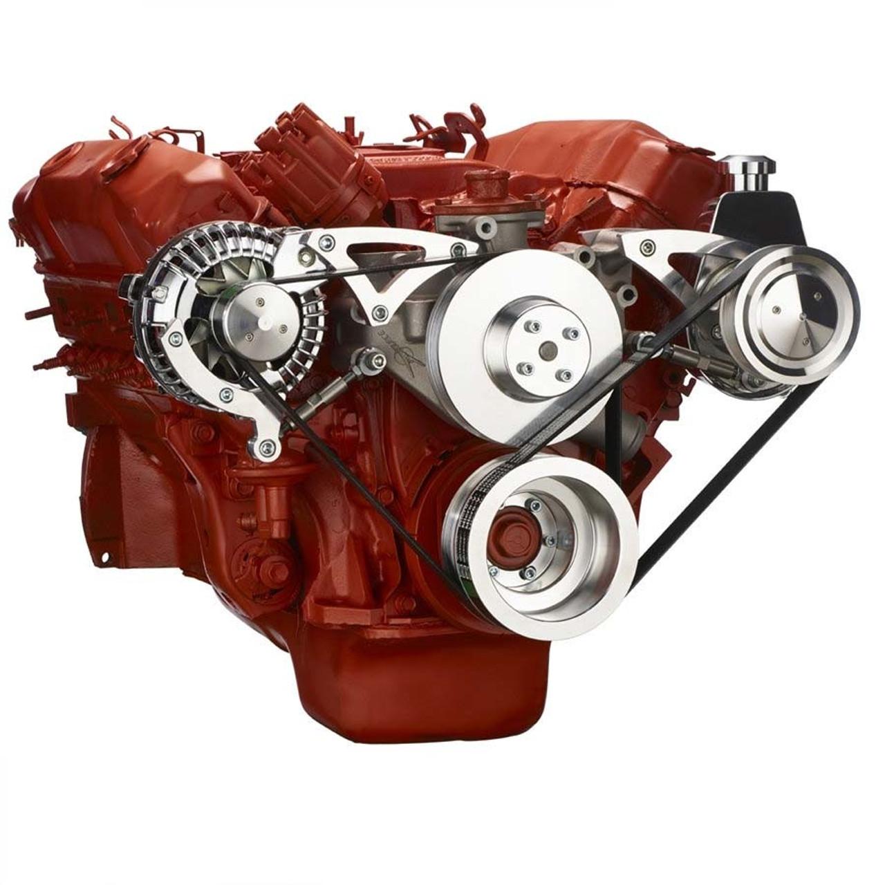 Chrysler Big Block Alternator Power Steering Serpentine Conversion March Pontiac