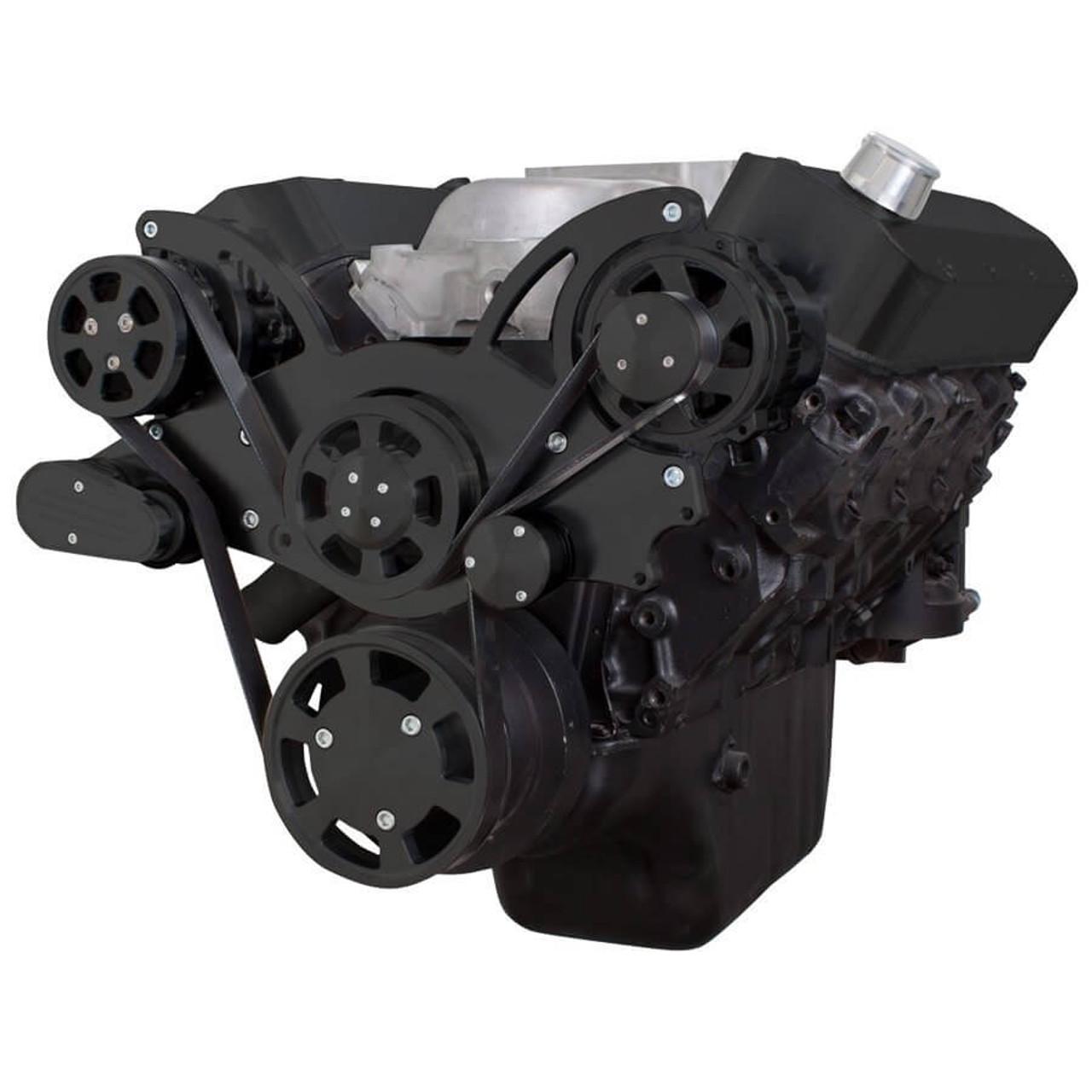 Black Serpentine System for 396, 427 & 454 - AC & Alternator