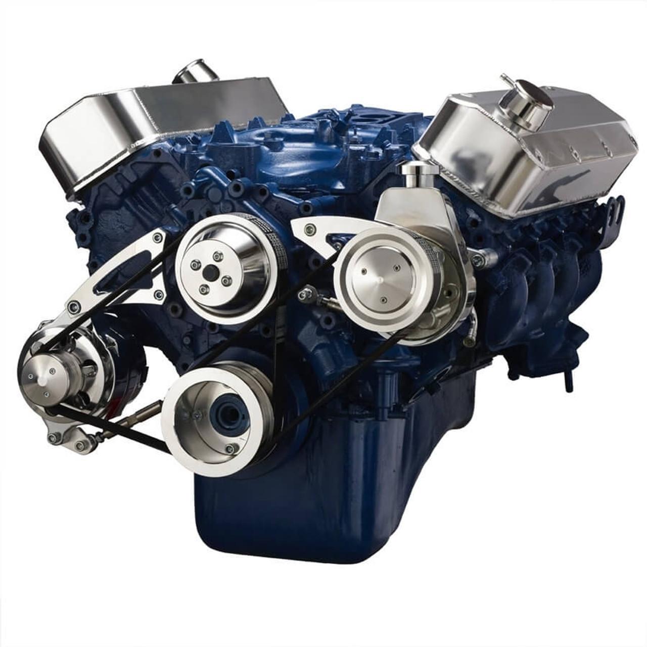 Ford 460 serpentine system power steering alternator