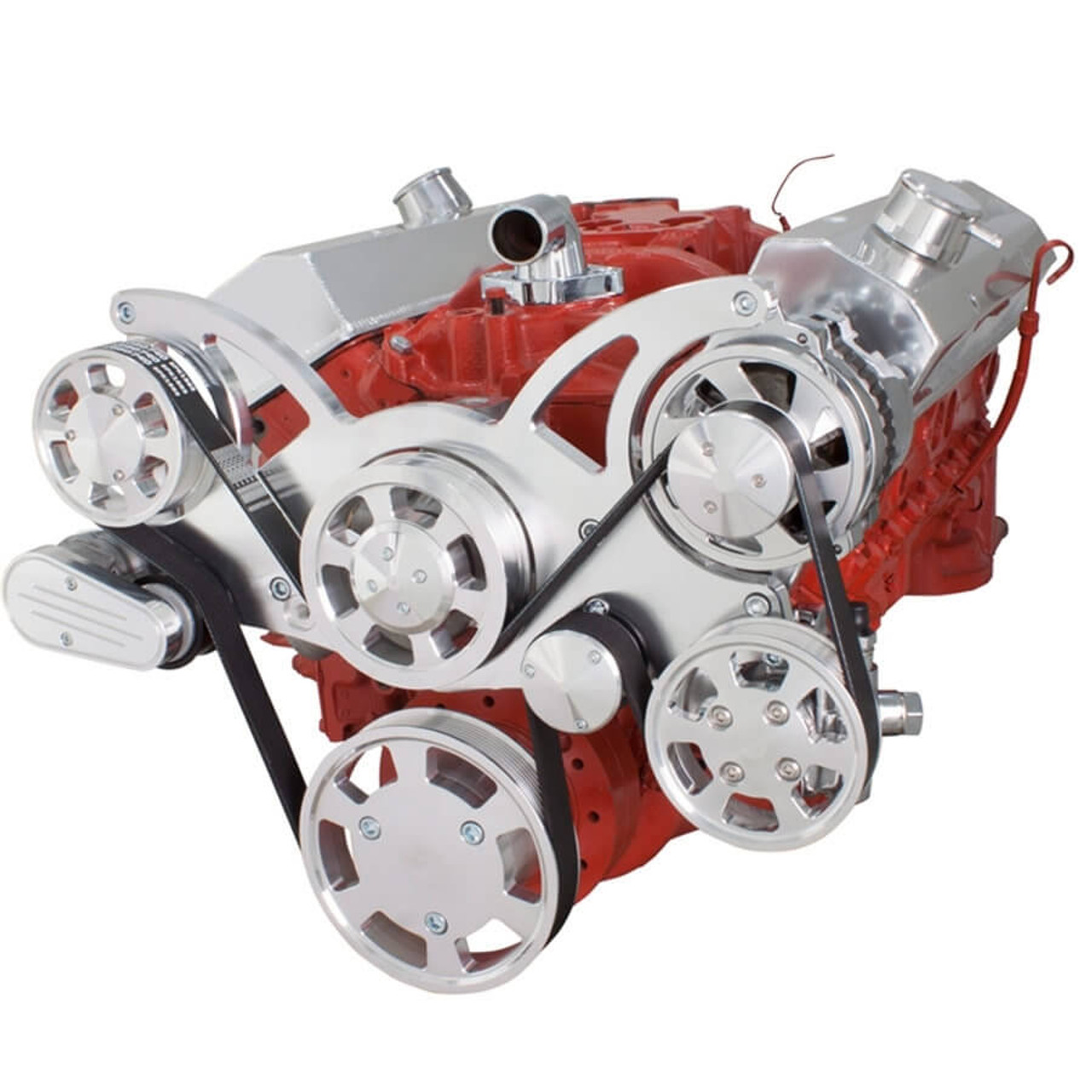 Serpentine System for SBC 283-350-400 - Power Steering & Alternator ...