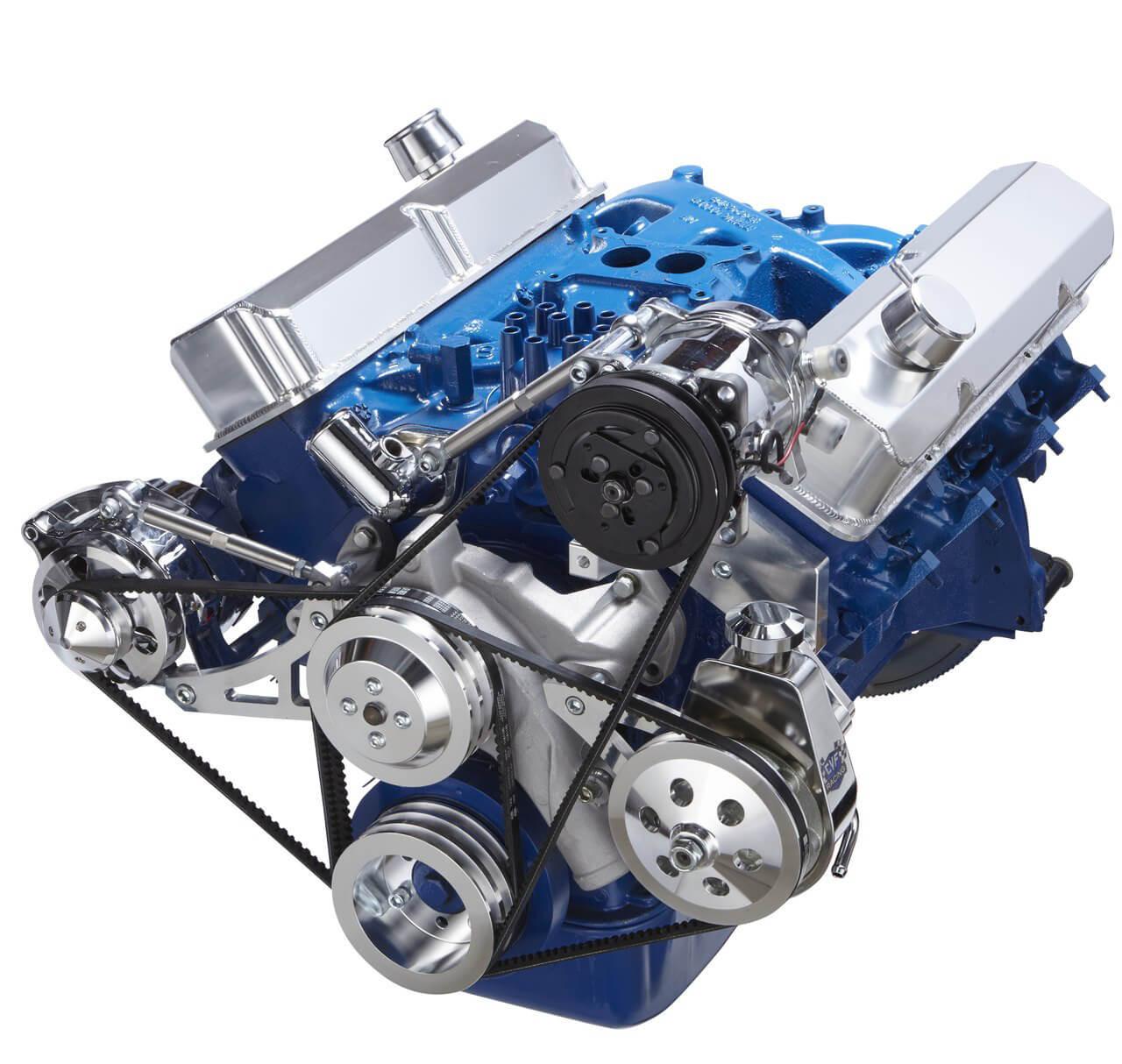 ford 390 fe engine v belt pulley system sanden compressor. Black Bedroom Furniture Sets. Home Design Ideas