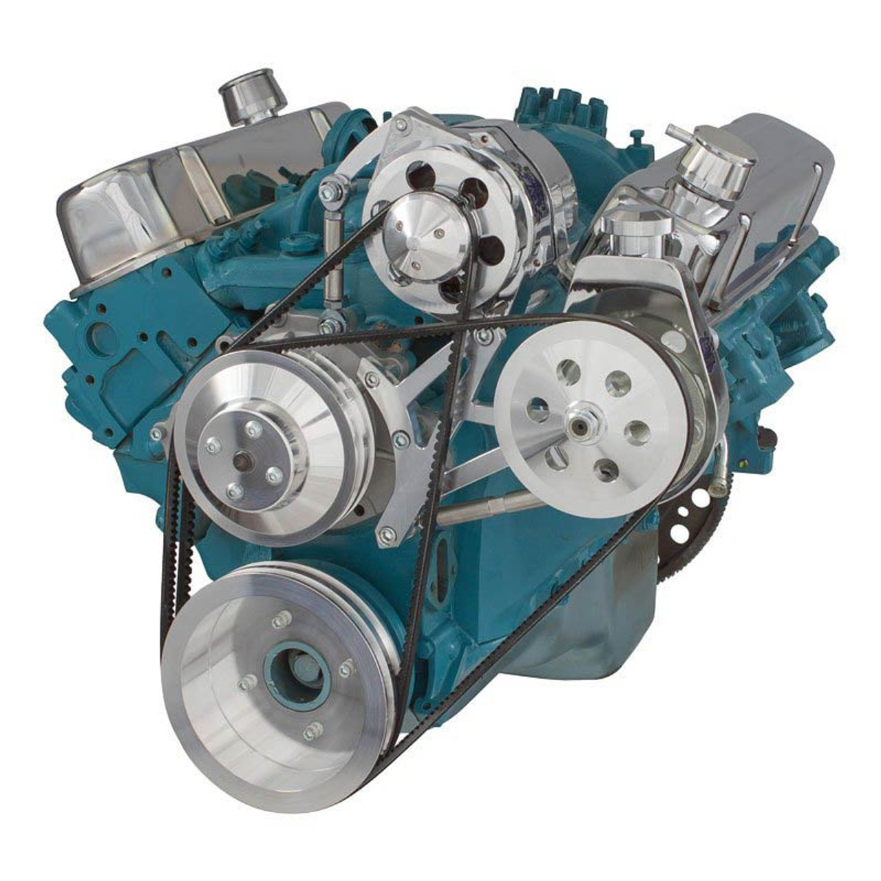 pontiac v belt pulley system 350 400 428 455 rh cvfracing com Pontiac Serpentine Belt 2001 Serpentine Diagram for Pontiac Sunfire