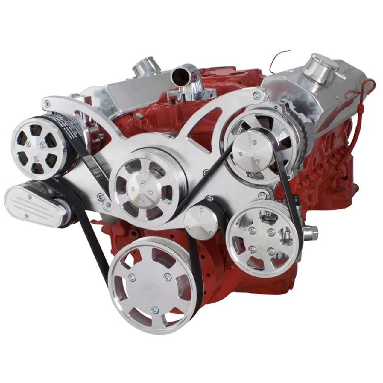 Serpentine System for SBC 283-350-400 - AC, Power Steering & Alternator ...