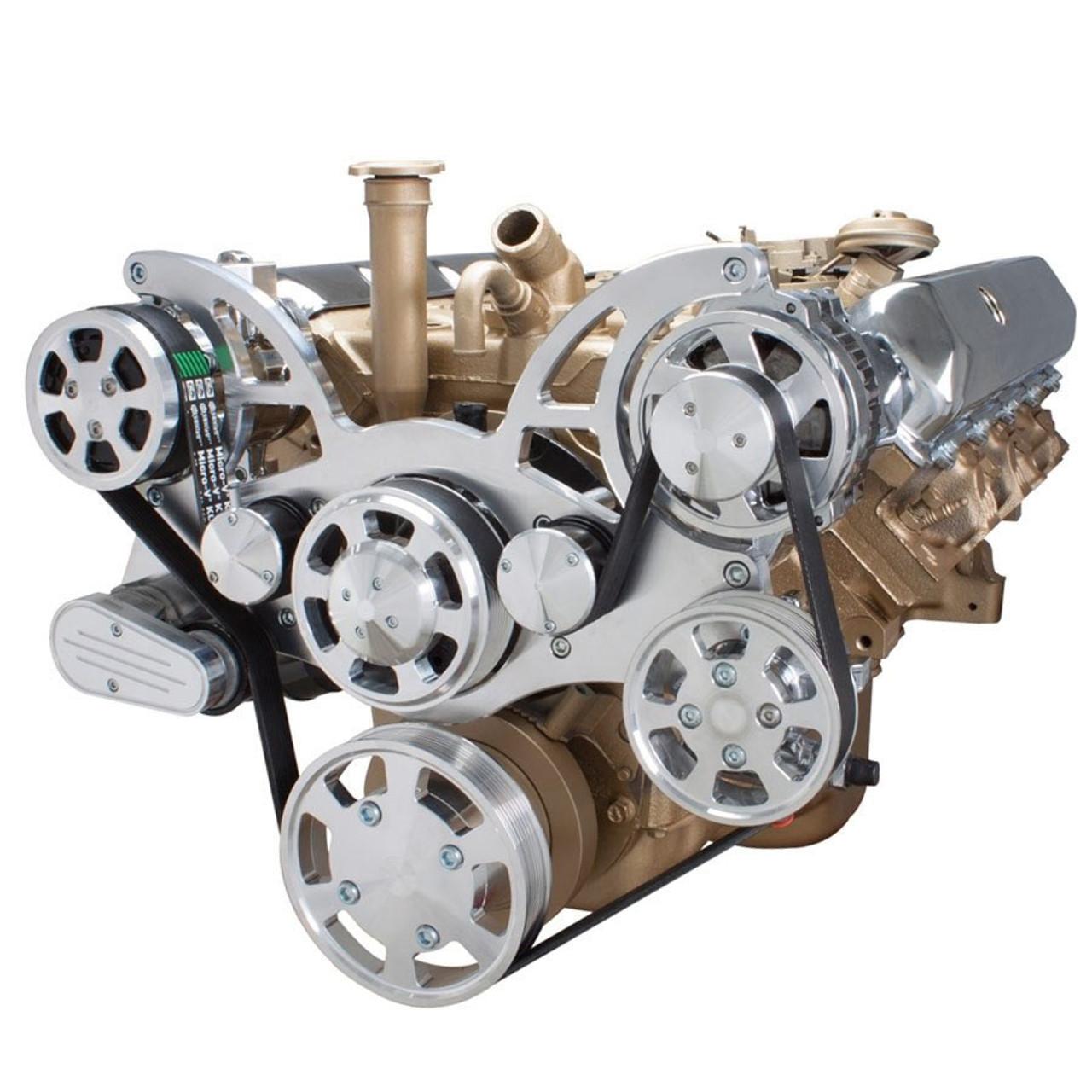 Serpentine Conversion Kit For Oldsmobile 350 455 With Ac Power. Serpentine System For Oldsmobile 350455 Ac Power Steering Alternator. Wiring. 455 Olds Engine Belt Diagram At Scoala.co