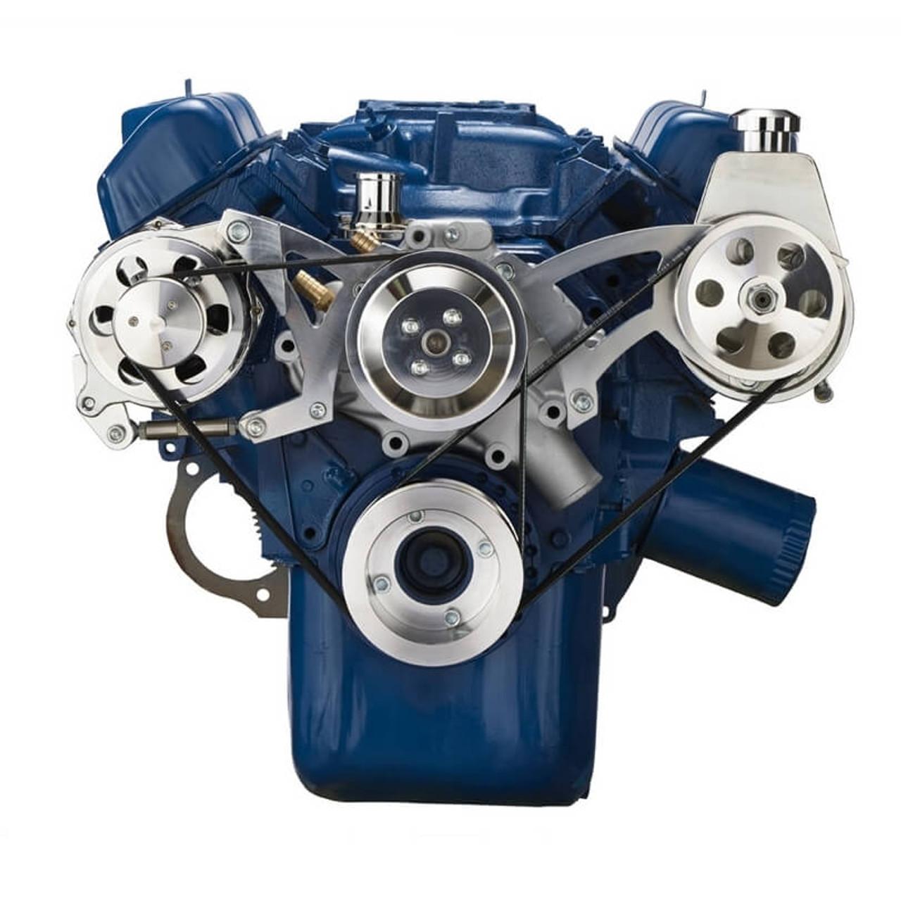 Ford 335 Series Serpentine Conversion  Power Steering  U0026 Alternator