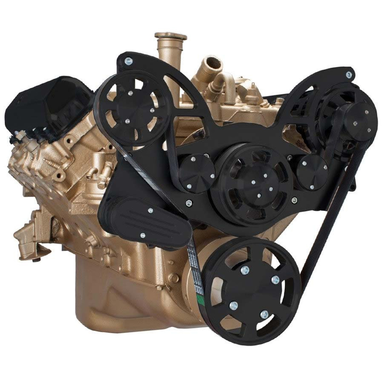 Stealth Black Serpentine System For Oldsmobile 350 455 Alternator Only All Inclusive Rocket Engine Diagram