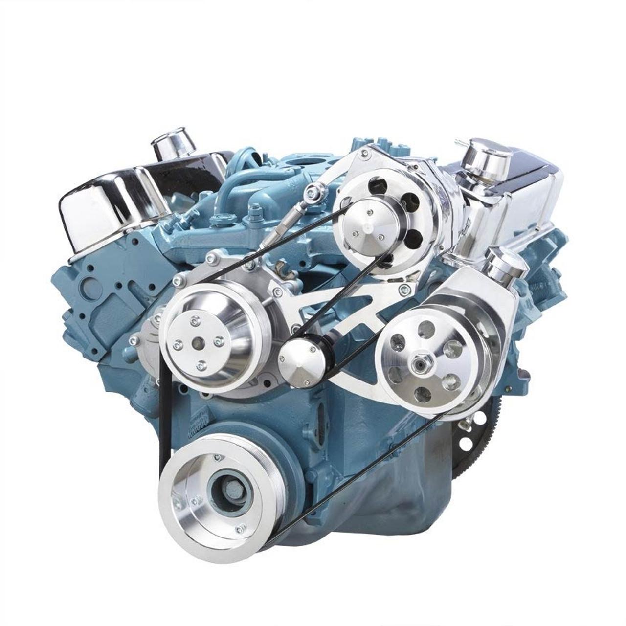 pontiac serpentine conversion kit 350 400 428 455 rh cvfracing com 1999 Pontiac Sunfire Parts Diagram Pontiac 3400 Engine Diagram