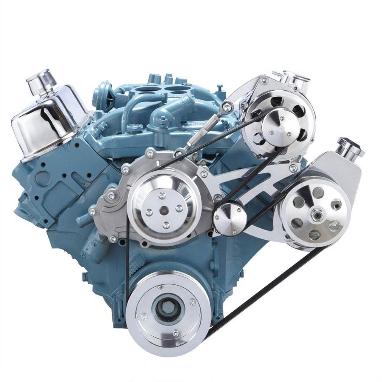 pontiac serpentine conversion kit 350 400 428 455 rh cvfracing com Serpentine Diagram for Pontiac Sunfire Pontiac 3400 Engine Diagram