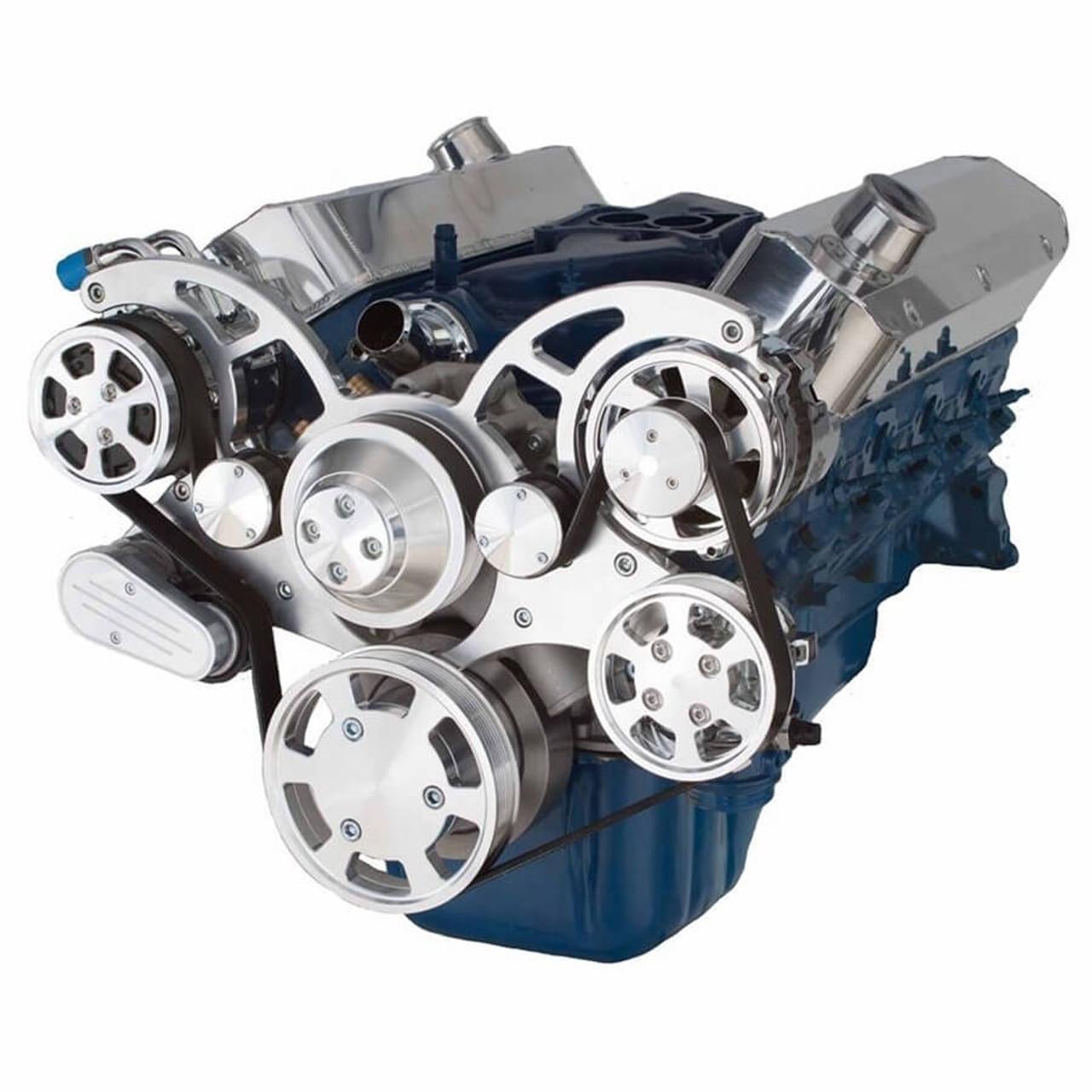 Serpentine System for 351C, 351M & 400 - AC, Power Steering & Alternator