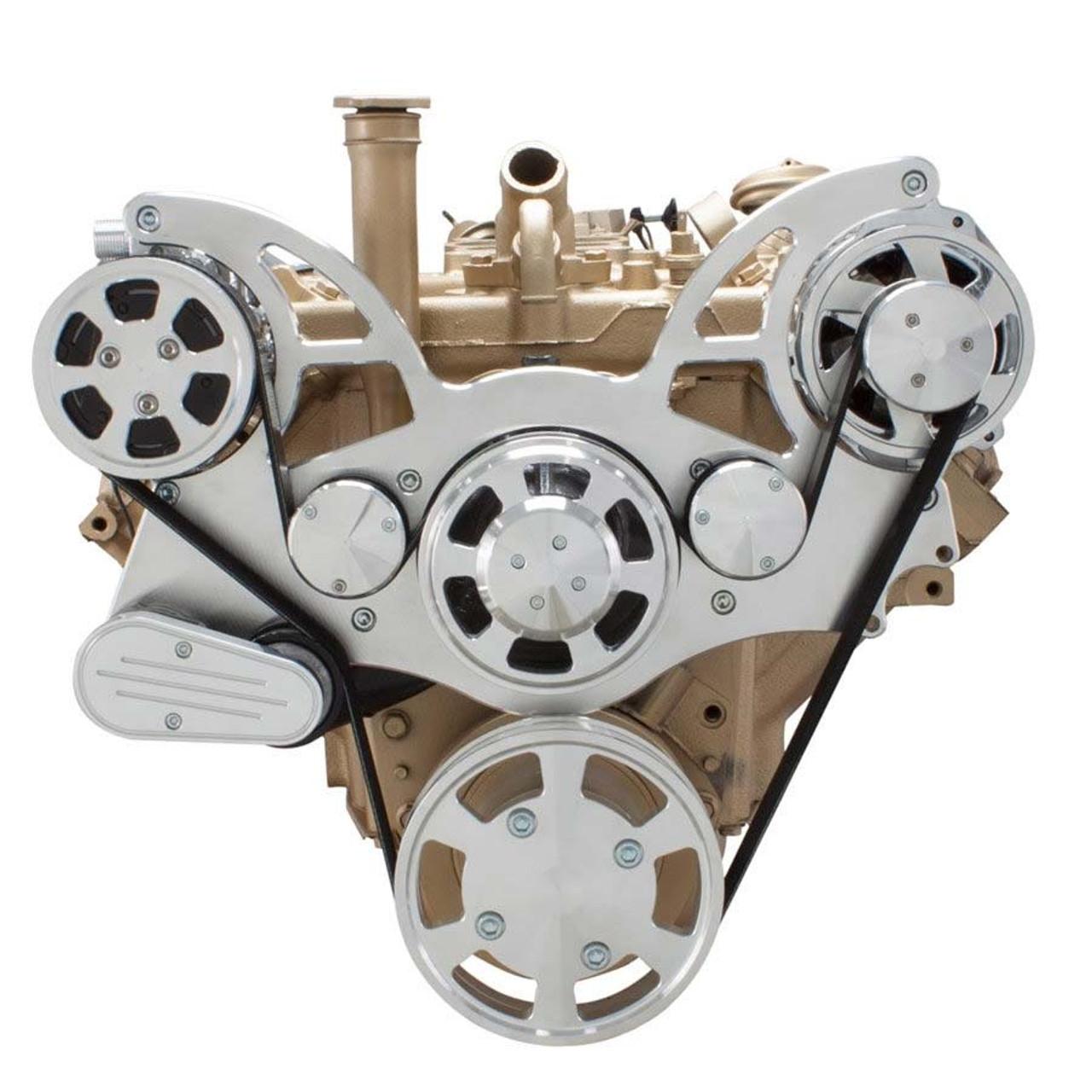 Serpentine Conversion Kit For Oldsmobile 350 455 With Ac Alternator. Serpentine System For Oldsmobile 350455 Ac Alternator. Wiring. 455 Olds Engine Belt Diagram At Scoala.co