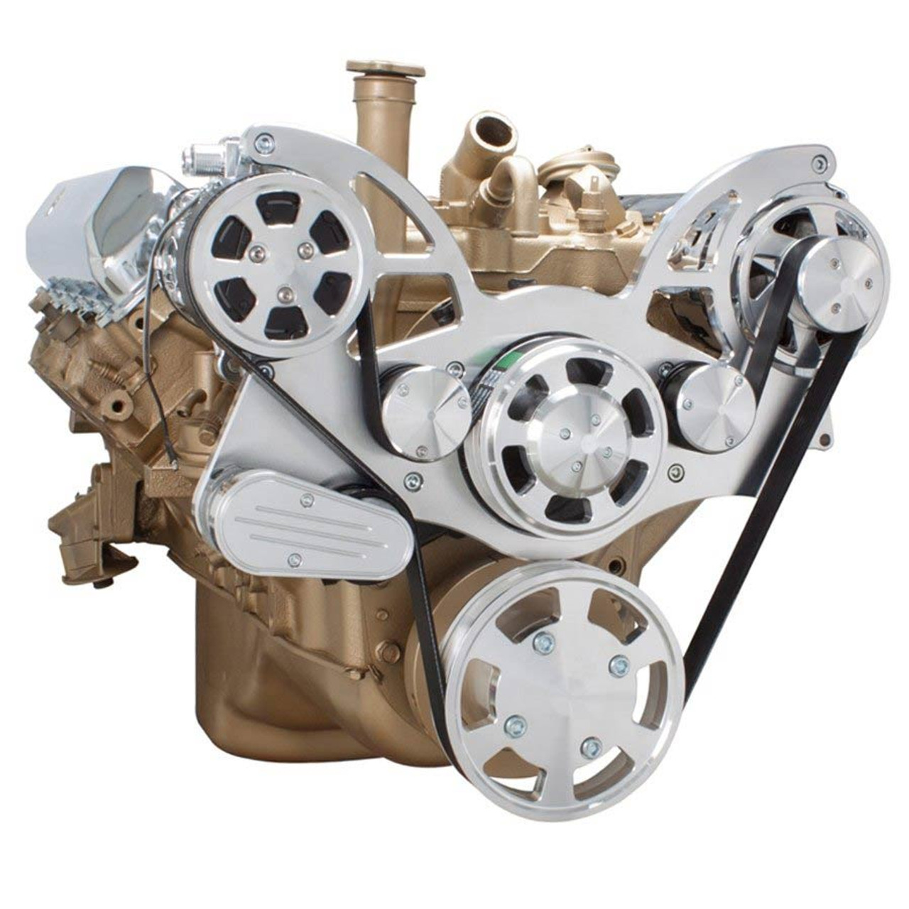 Serpentine Conversion Kit For Oldsmobile 350 455 With Ac Alternator. Serpentine System For Oldsmobile 350455 Ac Alternator All Inclusive. Wiring. 455 Olds Engine Belt Diagram At Scoala.co