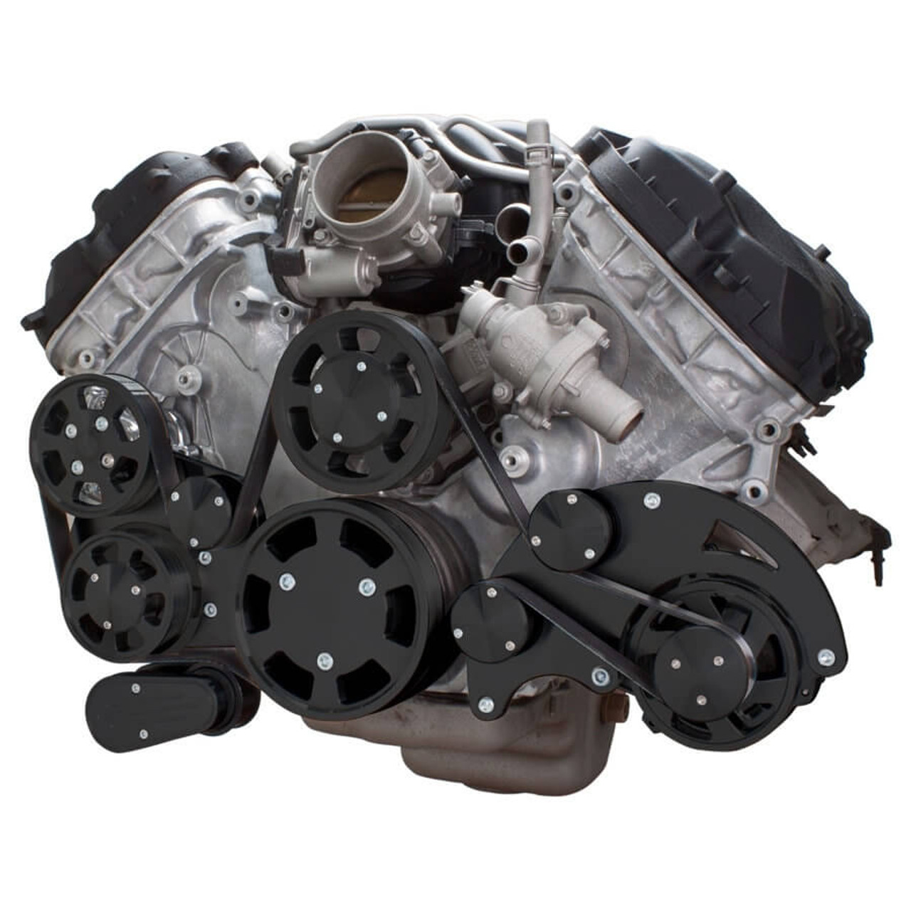 Stealth Black Serpentine System for Ford Coyote 5.0 - Alternator & Power  Steering ...