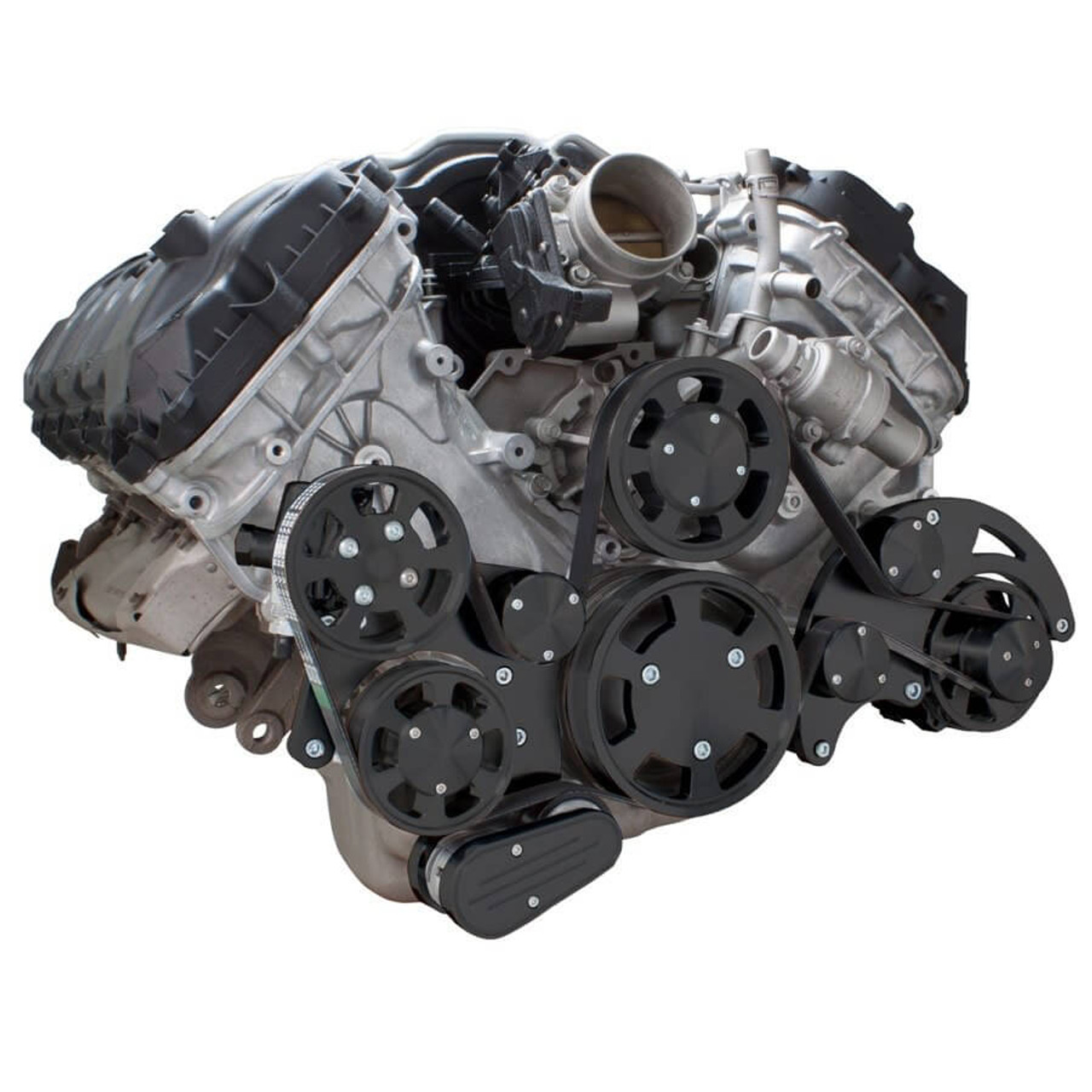 ... Stealth Black Serpentine System for Ford Coyote 5.0 - Alternator &  Power Steering