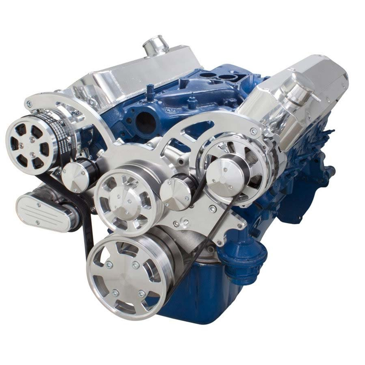 Polished Wraptor Serpentine System for Ford Small Block - AC & Alternator  Configuration ...