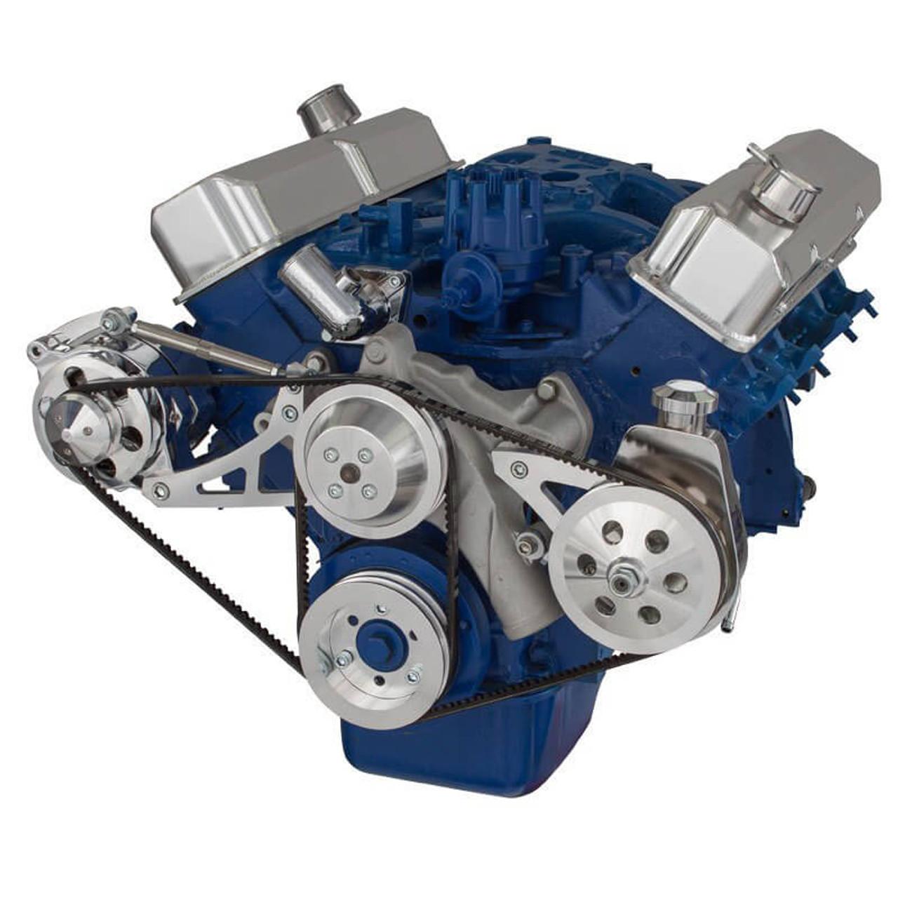 ford 390 fe engine v belt pulley system saginaw pump. Black Bedroom Furniture Sets. Home Design Ideas