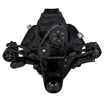 Stealth Black Serpentine System for 396, 427 & 454 Supercharger - Alternator Only