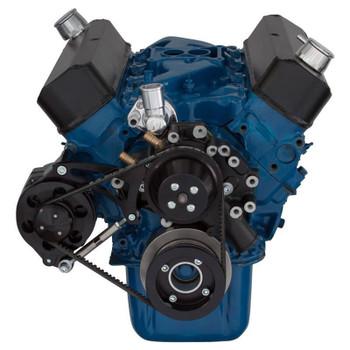Black Ford 289-302-351W V-Belt System for Alternator Only