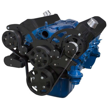 Black Serpentine System for 289, 302 & 351W - Alternator Only - All Inclusive