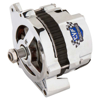 GM CS130 1 Wire Alternator, 140 Amp, Chrome Plated