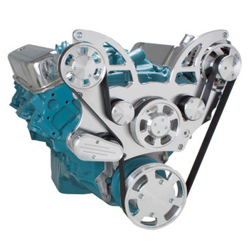 Pontiac Serpentine System for 350-400, 428 & 455 V8 - Alternator Only - All Inclusive
