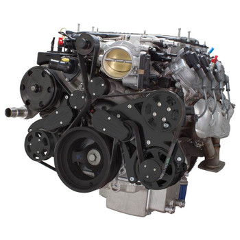 Stealth Black Serpentine System for LT4 Supercharged Generation V - Power Steering & Alternator - All Inclusive