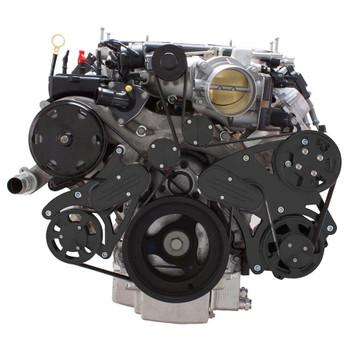 Stealth Black Serpentine System for LT4 Supercharged Generation V - Power Steering & Alternator