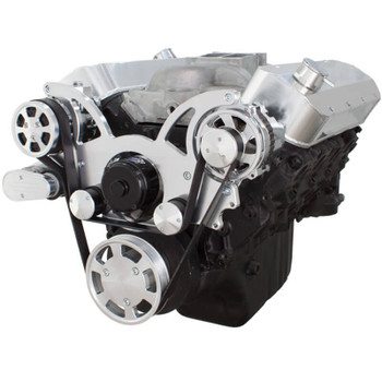 Serpentine System for 396, 427 & 454 - AC & Alternator with Electric Water Pump - All Inclusive