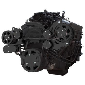 Stealth Black Serpentine System for LT1 Generation II - AC & Alternator - All Inclusive