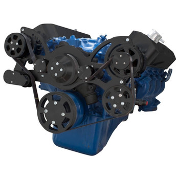 Black Serpentine System for 429 & 460 - AC, Power Steering & Alternator - All Inclusive