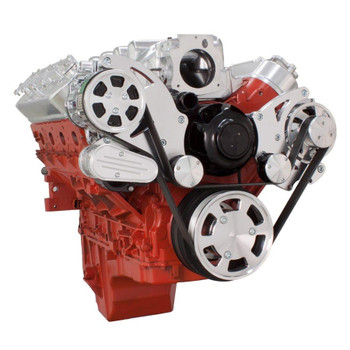 Chevy LS Serpentine Kit - AC & Alternator with Electric Water Pump