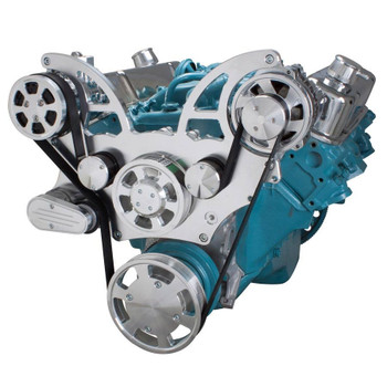 Pontiac Serpentine System for 350-400, 428 & 455 V8 - AC & Alternator - All Inclusive
