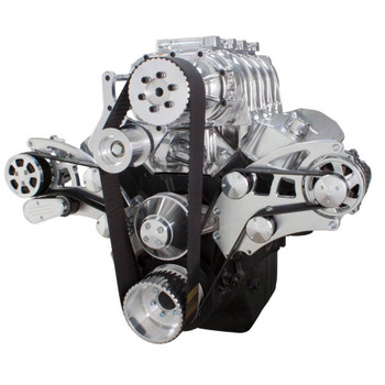 Serpentine System for 396, 427 & 454 Supercharger - AC, Alternator & Root Style Blower - All Inclusive