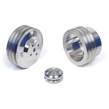 AMC / Jeep Billet Aluminum Pulley Kit 3 Groove