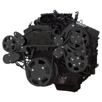 Stealth Black Serpentine System for LT1 Generation II - Power Steering & Alternator - All Inclusive
