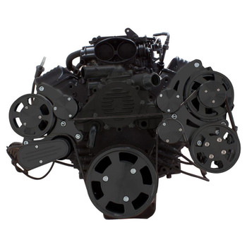 Stealth Black Serpentine System for LT1 Generation II - Power Steering & Alternator