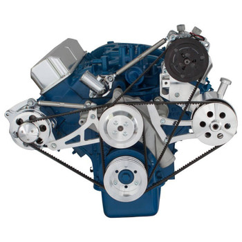 Ford 390 V-Belt System - AC, Alternator & Power Steering with Ford Pump