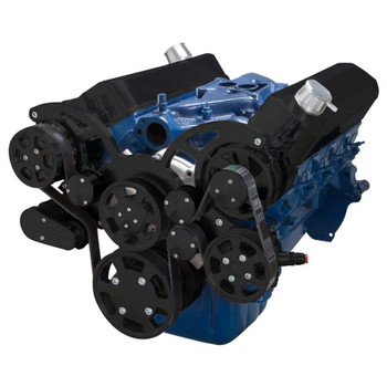 Black Serpentine System for 289, 302 & 351W - AC, Power Steering & Alternator - All Inclusive