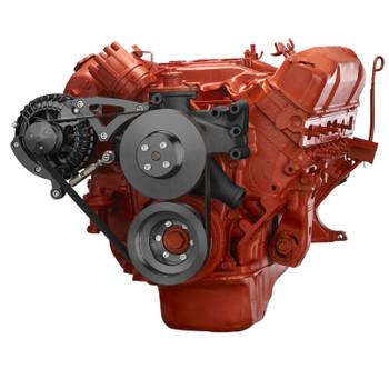 Black Big Block Chrysler Serpentine Conversion, Alternator Only