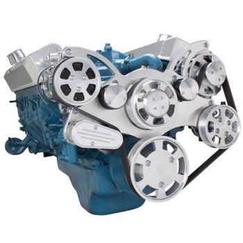 Serpentine System for Small Block Mopar - AC, Power Steering & Alternator - All Inclusive