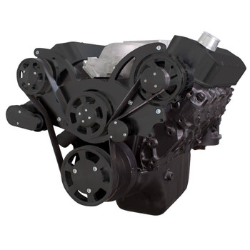 Black Serpentine System for 396, 427 & 454 - Alternator Only - All Inclusive