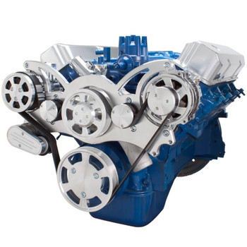 Serpentine System for Ford FE Engines - AC & Alternator