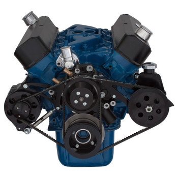 Black Ford 289-302-351W V-Belt System - Alternator & Power Steering