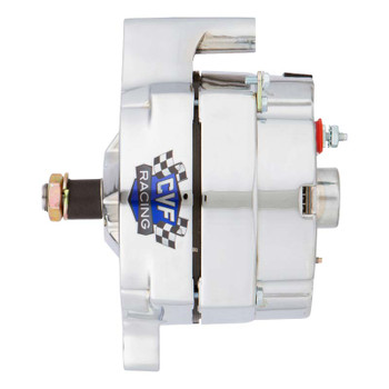 Ford 1 Wire Alternator, 100 Amp, Chrome Plated