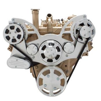 Serpentine System for Oldsmobile 350-455 - AC & Alternator - All Inclusive