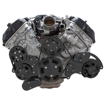 Stealth Black Serpentine System for Ford Coyote 5.0 - Alternator & Power Steering