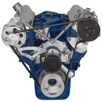 Ford 289-302-351W Serpentine Conversion Kit - Alternator & A/C - Electric Water Pump