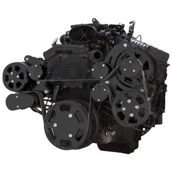 Stealth Black Serpentine System for LT1 Generation II - AC, Power Steering & Alternator - All Inclusive