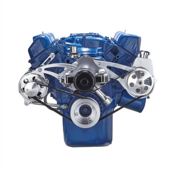 Ford 351C Serpentine System - Power Steering & Alternator, Electric Water Pump